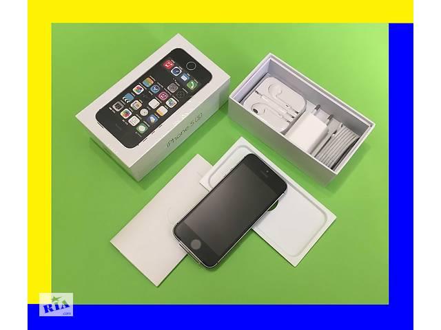 бу IPhone 5s 32Gb Space Gray [NEW в заводской плёнке]оригинал 100% NEVERLOCK (без аванса (+подар. стекло айфон 5c в Хмельницькому