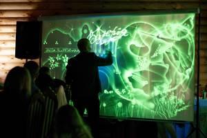 Световая анимация и Лазерное шоу и на праздник в Виннице  или видео ролик