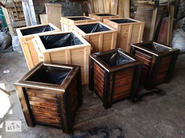 Деревянный горшок для вазонов ( кашпо, ящик, горшок ) + утепленный- объявление о продаже  в Житомире