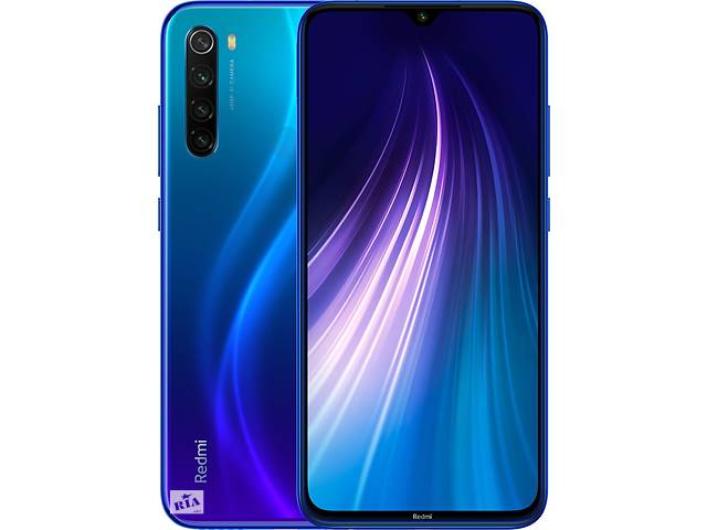 бу Xiaomi Redmi Note 8 4GB 64GB Black, Neptune Blue НАЛОЖКА в Гусятине