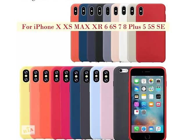 купить бу Новые силиконовые чехлы-бамперы Silicone Case для Apple iPhone c покрытием Soft touch в Киеве