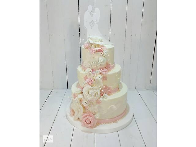 продам Свадебный торт на заказ! Свежие продукты, короткие сроки! бу в Киеве