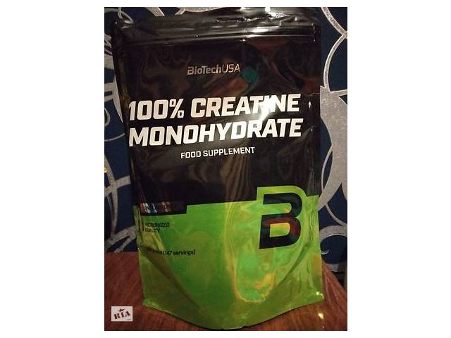 продам Креатин моногидрат BioTech Creatine Monohydrate 100% (500г) бу в Мариуполе