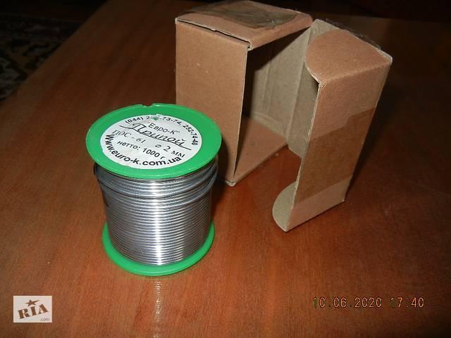 Припой ЕВРО-К ПОС-61 (2mm) катушка 1 кг.