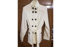 Женский весенний осенний плащ пиджак куртка 48 размер бежевый цвет