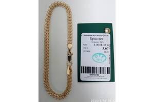Новый браслет 18 см золото