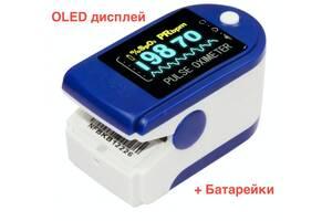Сертифицированный пульсоксиметр Contec CMS50D + батарейки