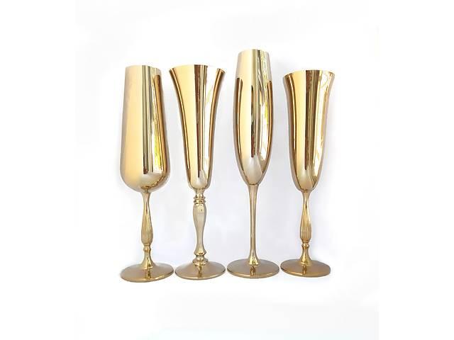 бу Весільні келихи Bohemia, срібло, золото, перламутр в Запоріжжі