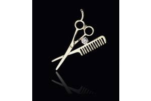 Брошь для парикмахера