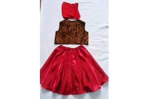 Карнавальный костюм красная шапочка червона шапочка