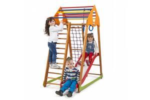 Развивающий спортивный комплекс с горкой для малышей SportBaby BambinoWood Plus 1 Разноцветный (BambinoWood Plus 1)