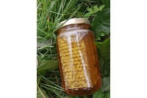 Лесной мед с сотами.