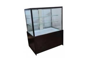 Витрина холодильная кондитерская Днепроторг куб напольная новая