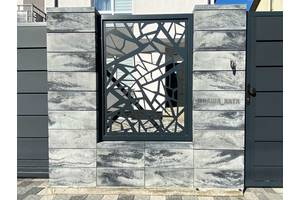 Строительство забора из блока в стиле лофт Наша Дом Ужгород