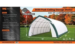 Ангар, склад, палатка, тунельный ангар TMG Industrial 6,1х9,1х 3,65