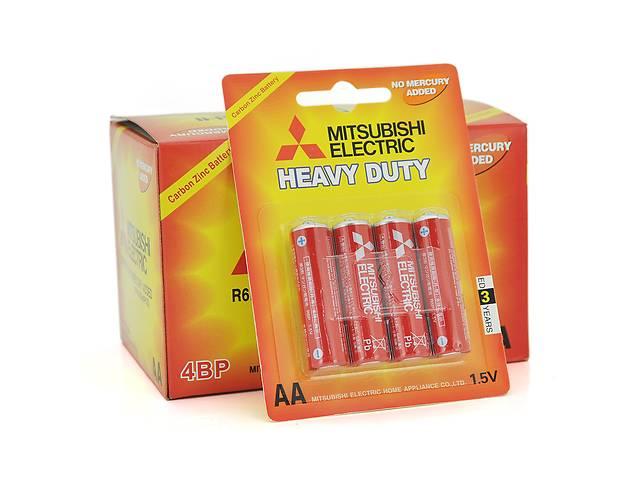 бу Батарейка Heavy Duty MITSUBISHI 1.5V AA/R6P, 4pcs/card, 48pcs/inner box, 576pcs/ctn (комплект 4шт) в Києві