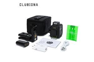 Clubiona высокоточный 3D лазерный уровень 360° 12 зеленых линий OSRAM