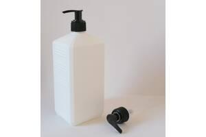 Дозатор черный для жидкого мыла на горловину 28 мм