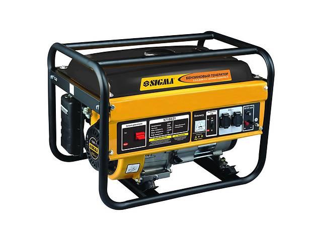 продам Генератор бензиновый 2.5/2.8кВт 4-х тактный ручной запуск Sigma (5710221) бу в Козине