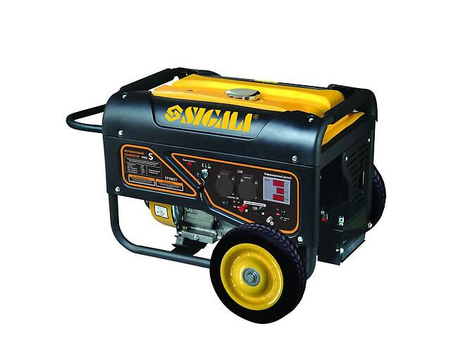купить бу Генератор бензиновый 5.0/5.5кВт 4-х тактный электрозапуск Pro-S SIGMA (5710621)  в Козине
