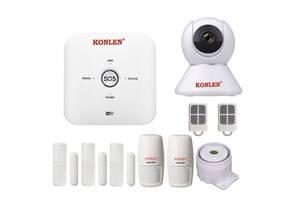 GSM WiFi сигналізація Konlen TUYA MAXI + WiFi 1080p (100617)