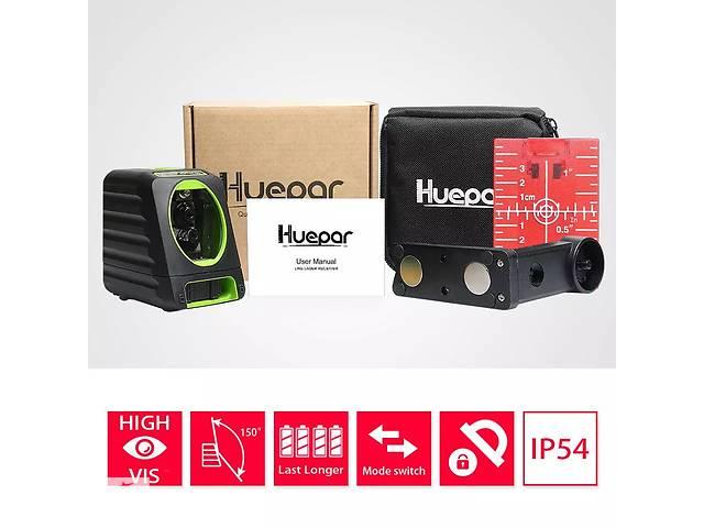 купить бу Huepar BOX-1R точнейший лазерный уровень нивелир 2 линии 2 излучателя батарейки в Луцке