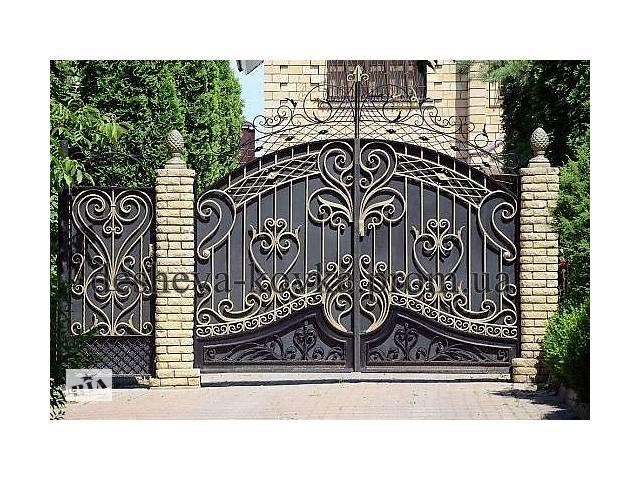 бу Кованые ворота с калиткой  в Украине