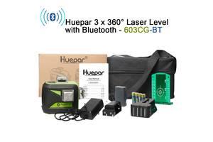 Лазерный 3D уровень с Bluetooth нивелир Huepar 603CG-BT 12 зеленых линий