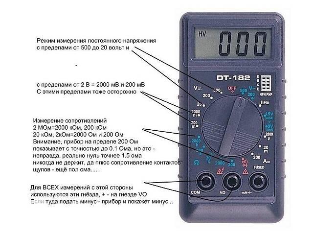 бу Мультиметр тестер DT-182  в Украине