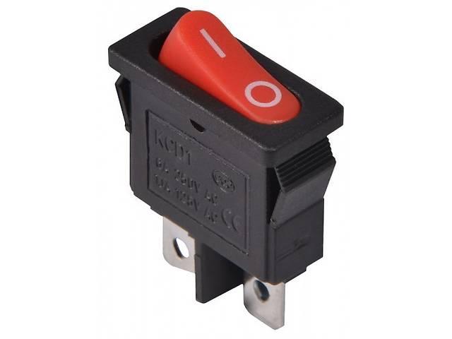 Переключатель KCD1-101-12, ON-OFF, 6А (2pin), 250V, красный