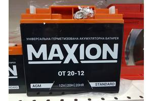 Промисловий акумулятор Maxion OT 20-12 AGM R+ 12V 20Ah