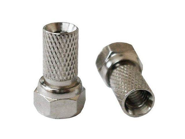 Штекер F (RG-58) накрутка, диам.-5мм, цинк