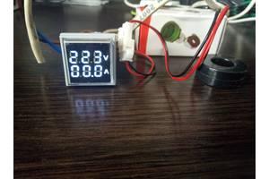Цифровой индикатор 2 в 1 22 мм вольтметр амперметр