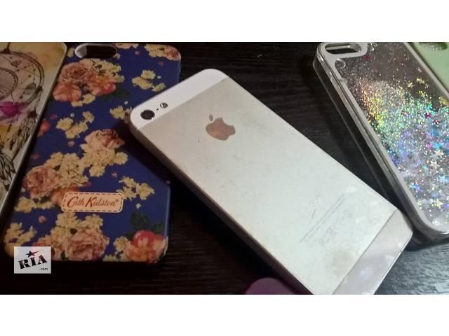 купить бу iPhone 5 Silver 16 Gb в Киеве
