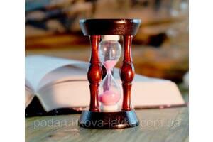 """9290108 Песочные часы """"Круг"""" 20 секунд Розовый песок"""
