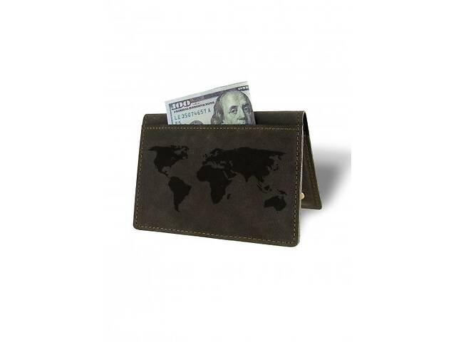 купить бу Холдер-паспорт Карта Мира М01 коричневый SKL47-177972 в Киеве