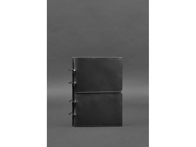 купить бу Кожаный блокнот на кольцах (софт-бук) 9.0 в мягкой черной обложке BlnkntBN-SB-9-soft-g-kr в Киеве