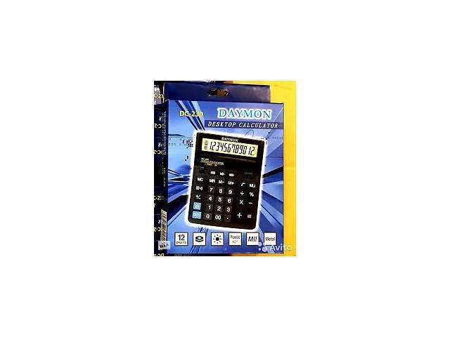 купить бу Настольный калькулятор с двумя дисплеями Daymon DC-231M в Киеве