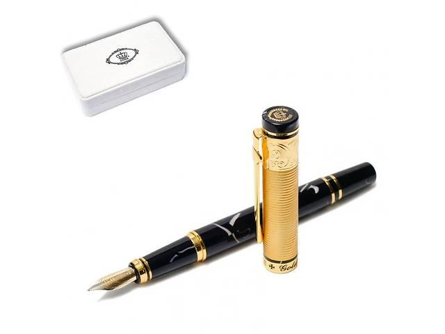 купить бу Ручка перьевая подарочная в футляре  Duke GM14K-BL 137 мм чёрно-золотая ЗОЛОТАЯ МЕДАЛЬ в Одессе