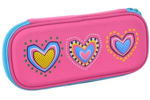 Школьный твердый пенал 3D Lovely heart Smart 531962 Розовый