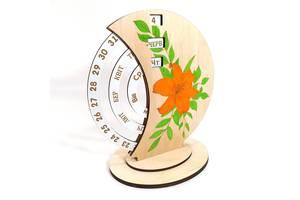 Вечный календарь настольный 19х12х21 Мастерская мистера Томаса Фанера МДФ цветной