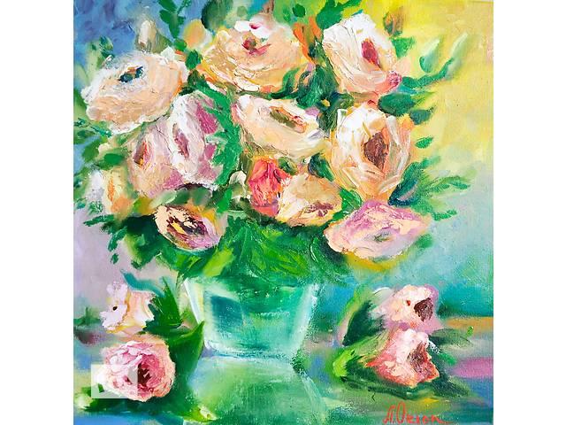 продам Картина маслом 30х30. Яркая картина на любой подарок! Цветы, натюрморт бу в Киеве