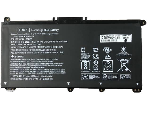 купить бу 11,55 V 41.9Wh 3470mAh TF03XL новый оригинальный TF03XL HSTNN-LB7J HSTNN-LB7X Аккумулятор для ноутбука HP Pavilion 15... в Харькове