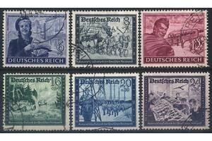1944 - Рейх - Почта Германии Mi.888-93 _ 7.50 EU