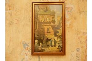 №67 Картина в рамі МИСТЕЦТВО І НАУКА KUNST UND WISSENSCHAFT 20 х 32 см.