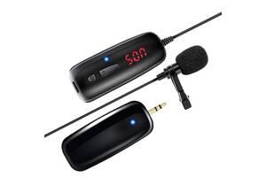 Беспроводной микрофон для телефона, смартфона петличный Savetek P7-UHF (100672)