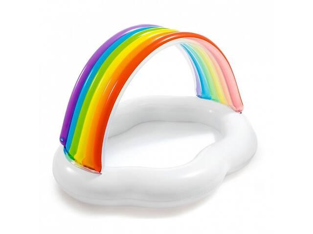 продам Детский надувной бассейн Intex 57141 «Радуга-Облако», 142 х 119 х 84 см, с навесом бу в Одессе