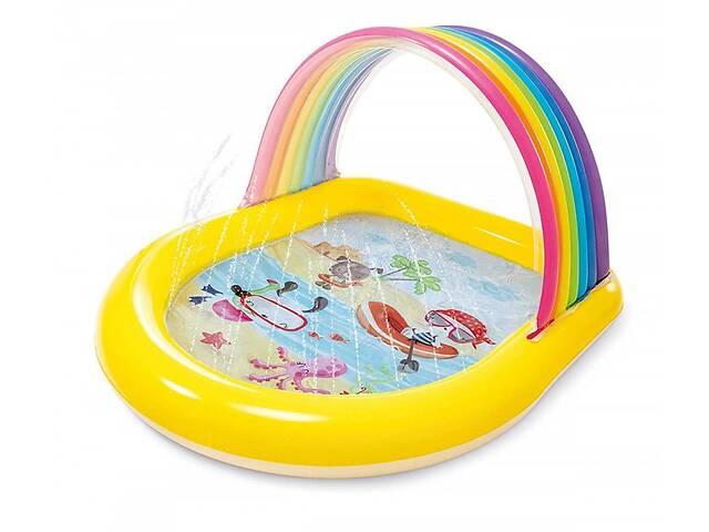 купить бу Детский надувной бассейн Intex 57156 Радуга, 147 х 130 х 86 см (bint_57156) в Киеве
