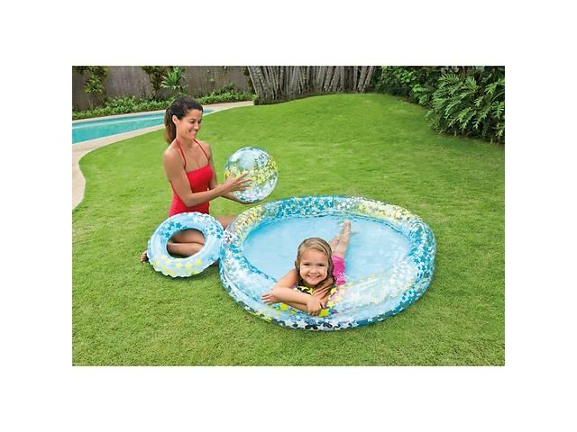 купить бу Детский надувной бассейн Intex 59460 + круг + мяч в Одессе