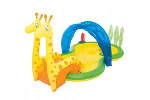 Детский надувной игровой центр бассейн Bestway 53060 Зоопарк с брызгалкой (bint_53060)